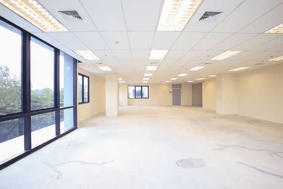 A commercial property being refurbished by our professional team